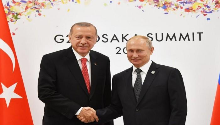 أردوغان وبوتين يبحثان مستقبل نبع السلام