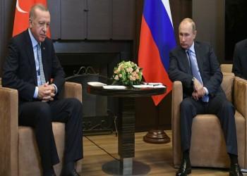 أردوغان يكشف عن عدد من الخرائط في اجتماعه مع بوتين