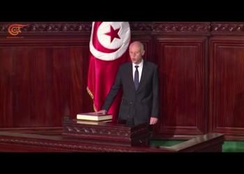 قيس سعيّد يؤدي اليمين الدستورية في تونس