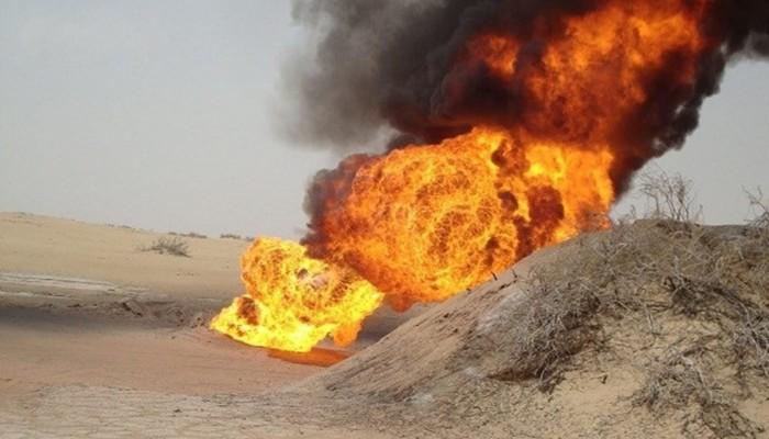 ثاني تفجير لأنبوب نقل النفط من شبوة خلال شهر
