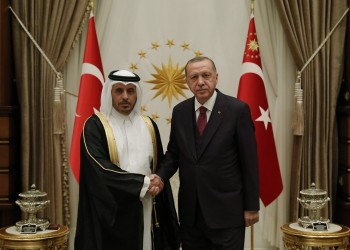 أردوغان يستقبل رئيس الوزراء القطري في أنقرة