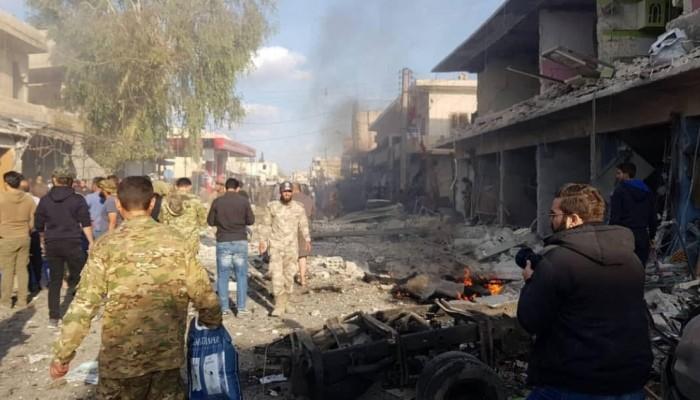 عشرات القتلى والجرحى بانفجار ضخم في تل أبيض السورية