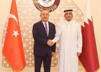 وزير الخارجية القطري يستقبل نظيره التركي في الدوحة