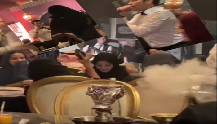 سعوديات يدخن الشيشة ويتراقصن على أغان شعبية