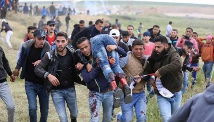 إصابة 38 فلسطينيا برصاص الاحتلال شرقي غزة