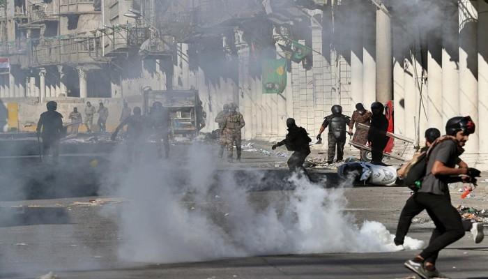 أمنستي: قنابل إيرانية فتاكة تستخدم لقمع مظاهرات العراق