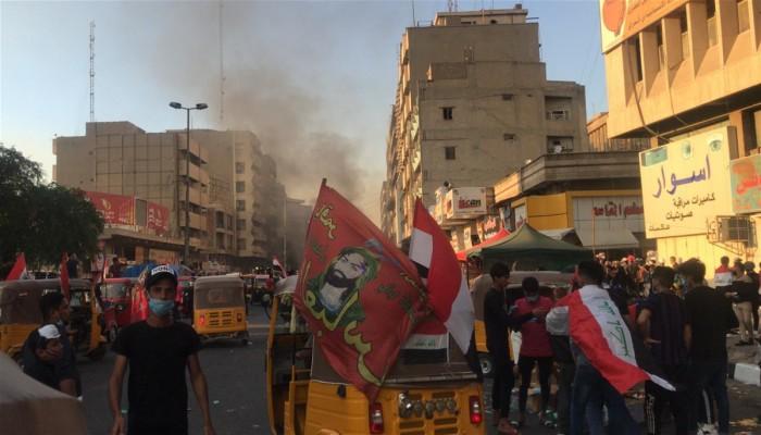 العراقيون يواصلون احتجاجاتهم وسط تحركات جديدة للأمن