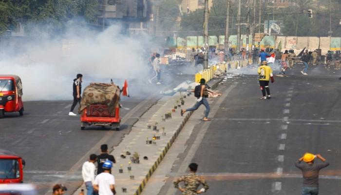 مقتل 3 متظاهرين برصاص قوات الأمن وسط بغداد