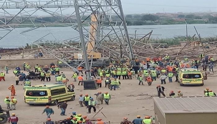 مقتل 4 مصريين في انهيار برج كهرباء غرب القاهرة