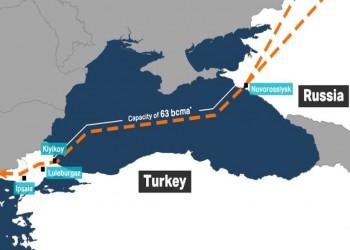 """مشروع """"السيل التركي"""" مع روسيا يدخل مراحله الأخيرة"""