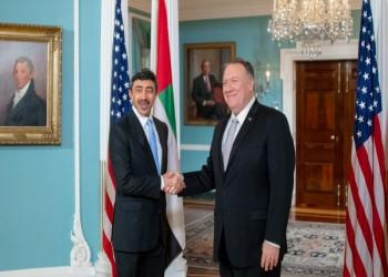 بومبيو وبن زايد يبحثان الدور الإيراني بالمنطقة والوضع في ليبيا