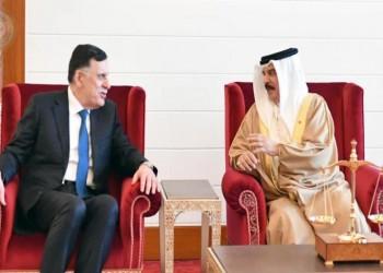 ملك البحرين والسراج يبحثان الأوضاع في ليبيا