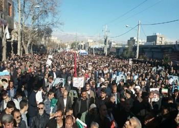 إيران تتهم أمريكا وإسرائيل والسعودية بدعم المتظاهرين