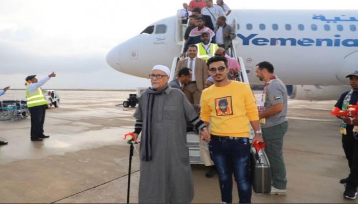 اليمن.. مطار حضرموت يستقبل أول رحلة طيران منذ 5 أعوام