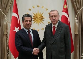 رئيس وزراء كردستان يلتقي أردوغان في أولى زياراته لتركيا