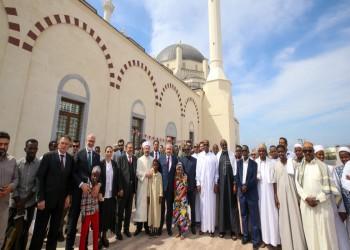 رئيس البرلمان التركي يفتتح مسجد ومجمع عبدالحميد الثاني بجيبوتي