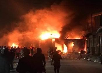 للمرة الثالثة.. إضرام النيران بقنصلية إيران في النجف العراقية