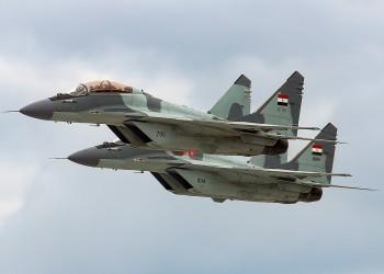سقوط مقاتلة مصرية روسية الصنع ونجاة قائدها