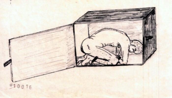 شاهد.. سجين بجوانتانامو يكشف بالرسم تفاصيل تعذيبه المروعة