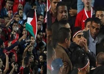 استغاثة من محامي الشاب رافع علم فلسطين باستاد القاهرة