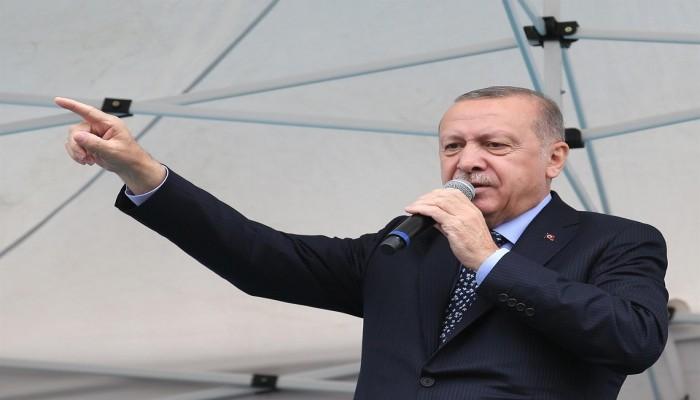 أردوغان يتهم دولا عربية بدعم إسرائيل في اعتداءاتها