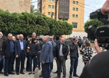 وقفة للعاملين بصحيفة الحياة أمام سفارة السعودية ببيروت
