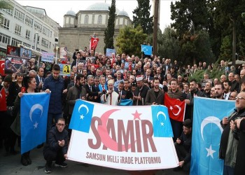 وقفة جنوبي تركيا ضد انتهاكات الصين لمسلمي الأويجور