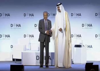 أمير قطر يعلن اختيار مهاتير محمد شخصية العام بمنتدى الدوحة