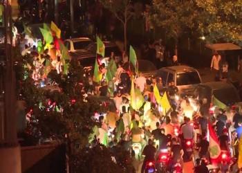 أنصار حزب الله وحركة أمل يحرقون خيام المعتصمين ببيروت