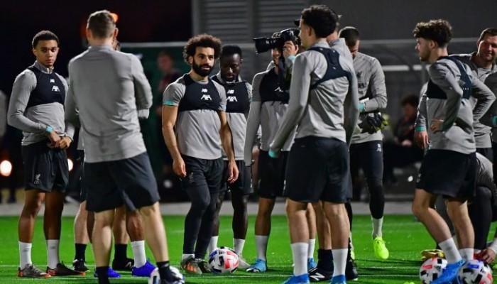استقبال جماهيري حافل لمحمد صلاح خلال تدريبات ليفربول في الدوحة