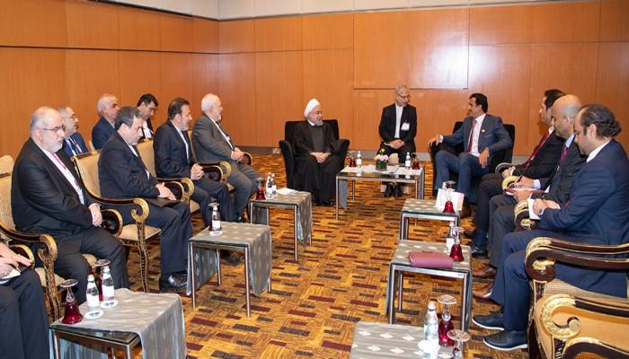 قمة بين أمير قطر والرئيس الإيراني لتعزيز التعاون الثنائي