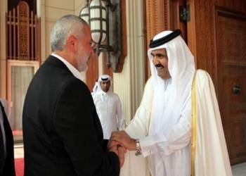 حمد بن خليفة يستقبل إسماعيل هنية بالدوحة