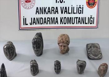 من العصر الهلنستي.. ضبط 14 تمثالا رخاميا بأنقرة