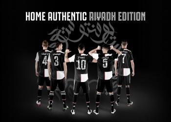 يوفنتوس يرتدي قمصانا بكتابات عربية في مباراة السوبر الإيطالي
