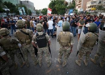 احتكاكات بين الجيش اللبناني ومتظاهرين في بيروت
