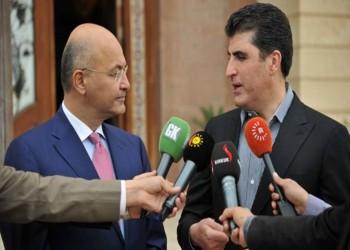 بارزاني يدعو لرفع الضغوط من فوق الرئيس العراقي