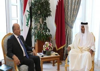 أمير قطر ورئيس العراق يبحثان تطورات المنطقة