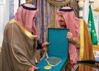 الملك سلمان يتسلم قلادة أبي بكر الصديق الإنسانية
