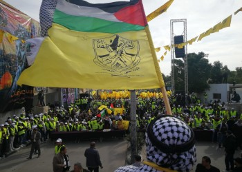 آلاف الغزاوين يشاركون في احتفال فتح بذكرى تأسيسها الـ55
