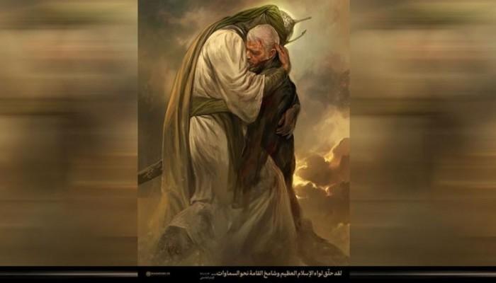 رسم احتضان الحسين لسليماني يثير جدلا