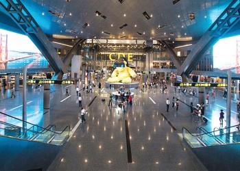 %12.44 زيادة في عدد المسافرين بمطار حمد الدولي
