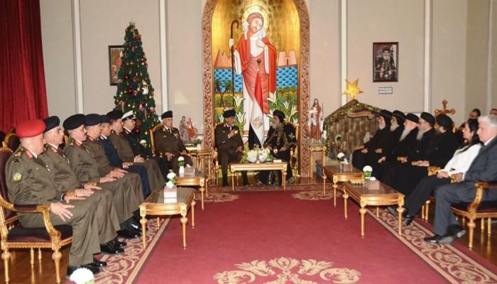 البابا تواضروس يؤكد الوقوف إلى جانب الجيش المصري