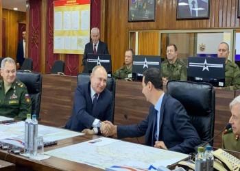 بوتين يلتقي الأسد بمعسكر روسي في دمشق.. والأخير يشكره بحرارة