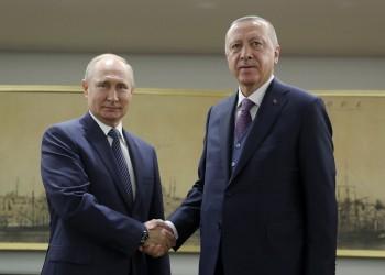 أردوغان وبوتين يؤكدان سعيهما لخفض التصعيد بالشرق الأوسط