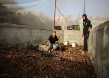 غزة.. مشروع ذاتي لتحويل المخلفات الزراعية إلى أسمدة