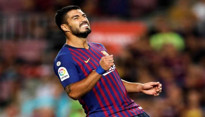 سواريز يغيب عن صفوف برشلونة بسبب الإصابة