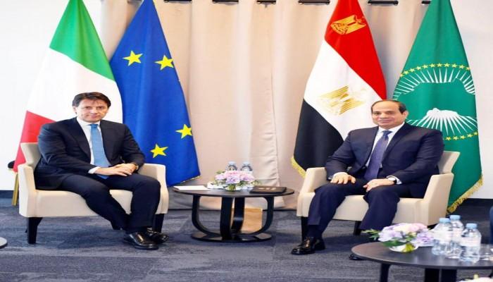 السيسي يبحث الأزمة الليبية مع رئيس الوزراء الإيطالي بالقاهرة