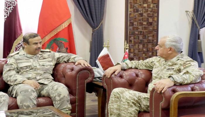 قطر والأردن يبحثان التعاون العسكري وأوضاع المنطقة