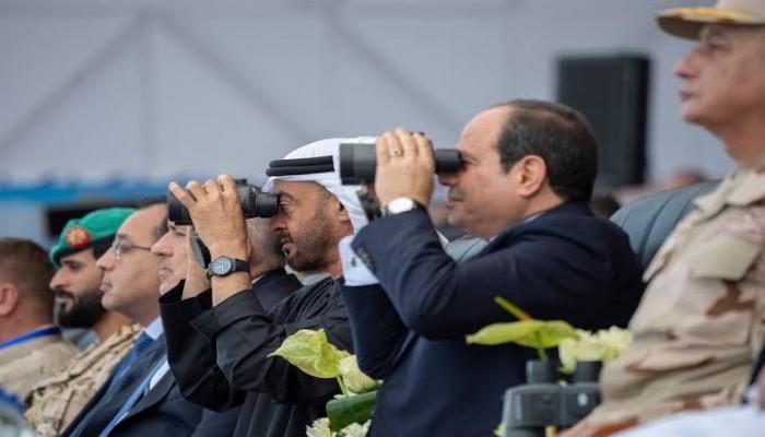 السيسي وبن زايد يفتتحان قاعدة برنيس الجوية البحرية بمصر