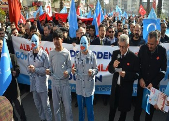 آلاف الأتراك يحتجون ضد القمع الصيني لمسلمي الإيجور